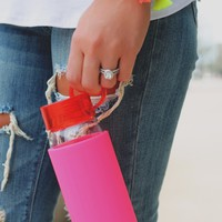 Kate Spade New York Water Bottle - Pink Colorblock
