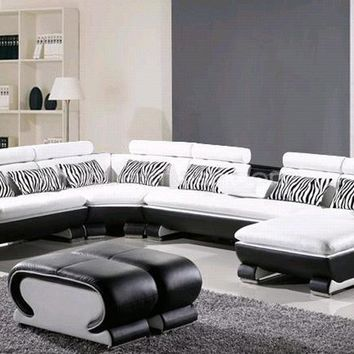 L Shaped Sofa Genuine Leather Corner sofa with Ottoman Chaise Lounge sofa Set Low Price Settee Living Room Sofa Furniture