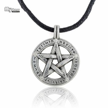 Supernatural Hebrew Charm Pentagram Pendant Necklace