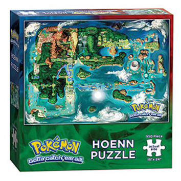 Pokémon Hoenn Map 550pc Puzzle - Exclusive
