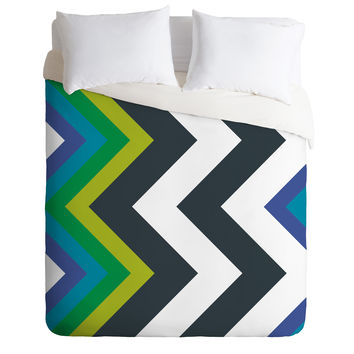 Karen Harris Modernity Galaxy Cool Chevron Duvet Cover