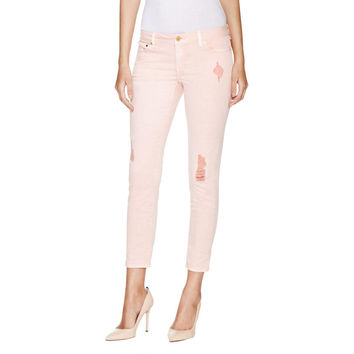 MICHAEL Michael Kors Womens Izzy Denim Distressed Cropped Pants