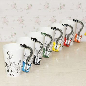 EX Ceramic Mug Cup Musical Instrument Note Style Coffee Milk Cup Christmas Gift EG