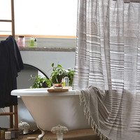 4040 Locust Wyatt Space Dyed Shower Curtain | Urban Outfitters