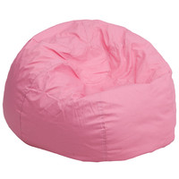 Oversized Solid Light Pink Bean Bag Chair DG-BEAN-LARGE-SOLID-PK-GG