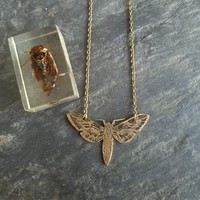 Moth in Flight Pendant