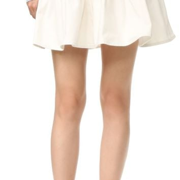 White Denim Eyelet Skirt