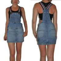Vintage Tommy Hilfiger Denim Overalls Skirts Dress