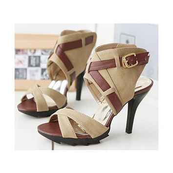 2015 women summer gladiator platform style cross-strap open toe hasp sandal slipper shoes large plus size 40-43 9cm high-heeled