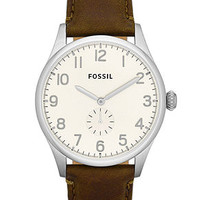 Fossil Watch, Men's Agent Brown Leather Strap 42mm FS4851
