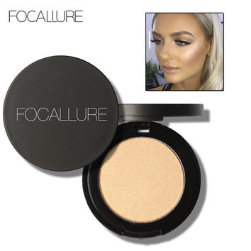 FOCALLURE Brand Shimmer Highlighter Makeup Bronzer Face Powder Glitter Mineral Make Up Bronzer Highlighter Contour Powder