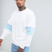 ASOS Oversized Sweatshirt With Cut and Sew at asos.com