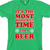 It's the Most Wonderful Time For a Beer-Unisex Grass T-Shirt