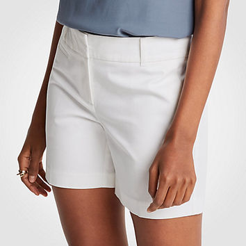 Cotton Mid Shorts | Ann Taylor