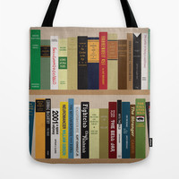 BOOKS!!! Tote Bag by Matthew Justin Rupp
