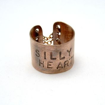 Custom Corset Ring, Message Ring, Hand Stamped Ring