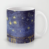 Vincent Van Gogh Starry Night Over The Rhone Mug by Art Gallery