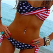 2 Pcs Stars Stripes Bikini Set Women's Swimsuit