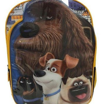 "The Secret Life of Pets Boys & Girls 16"" Blue & Yellow School Backpack"
