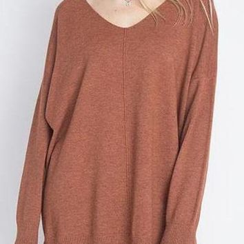 Sierra Ultra Soft Sweater in Cinnamon