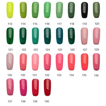 113-140 m.ladea 8.3ML green and peach Colors Nail Polish UV Led Long Lasting Nail Gel Polish DIY Nail Art Gel