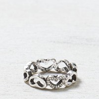 AEO Women's All Hearts Ring (Silver)