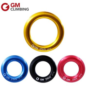 GM Climbing Descender Ring 25kN Large Rappel Ring Bail-Out O Ring Hammock Rappelling Rigging Rescue Equipment Travel Kits
