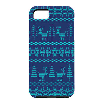 Natt Knitting Turquoise Deer Cell Phone Case