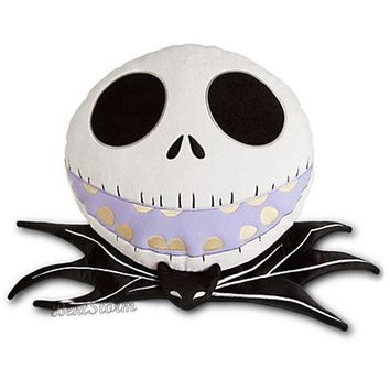 Licensed cool NEW Disney Store Jack Skellington Plush Throw Pillow Nightmare Before Christmas