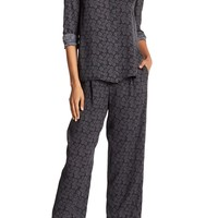 VINCE. | Printed Silk Blend Lounge Pant | Nordstrom Rack