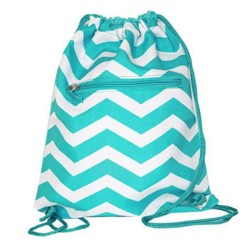Drawing Chevron Pattern Backpack Bags