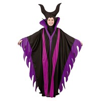 Maleficent Witch Costume - Adult Plus (Purple/Flame/Black)