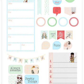 Pretty Things Planner Printable Stickers