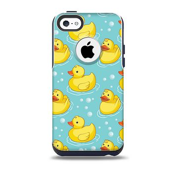 The Cute Rubber Duckees Skin for the iPhone 5c OtterBox Commuter Case