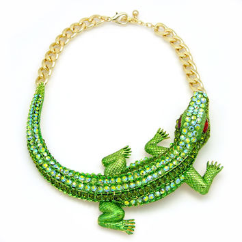 Fashion Alligator Necklace Set