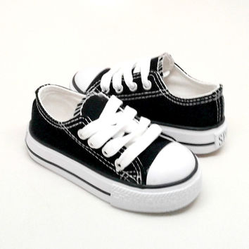 Toddler Black Sport Sneakers