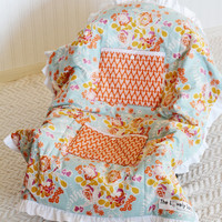 Carseat Cooler for Infants, Baby, and Toddler, Ruffle, Orange, Pink, Blue, Floral