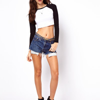 ASOS Cropped Baseball Top