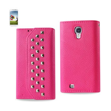 New Studs Wallet Case In Hot Pink For Samsung Galaxy S4 By Reiko