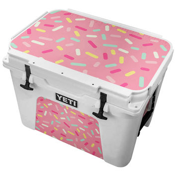 Pink Donut Sprinkles Skin for the Yeti Tundra Cooler