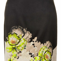 ORCHID EMBELLISH PENCIL SKIRT