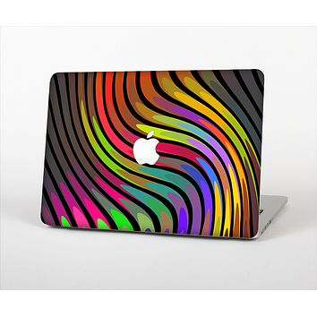 The Swirly Color Change Lines Skin Set for the Apple MacBook Pro 15""