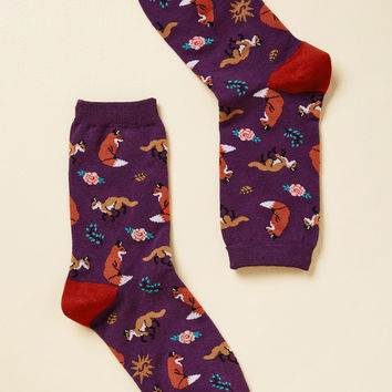 Fox, Look, and Listen Socks