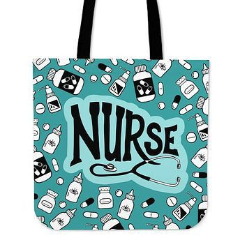 Nurse Care Linen Tote Bag