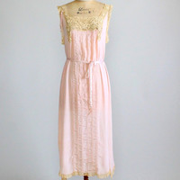 Vintage 1920s Silk and Lace Nightgown