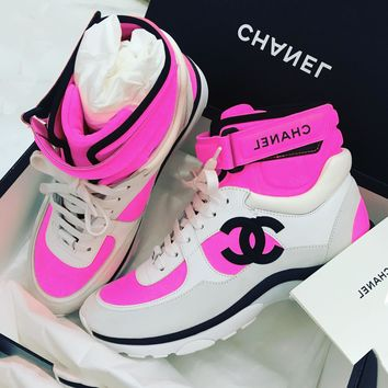 Chanel Women High Tops Fresh Color Sneakers