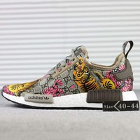 Gucci x Adidas NMD R_1 Boost Fashion Trending Casual  GG Tiger Pattern Sneakers G-SSRS-CJZX