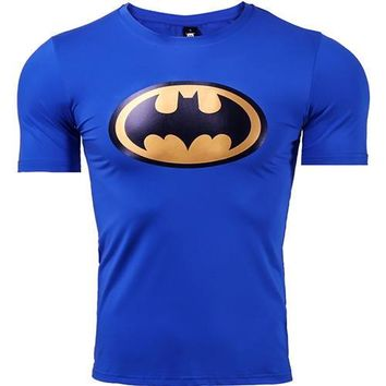 Anime T-shirt graphics Batman T shirts Men Funny  Summer 2017 New Fashion Casual Short Sleeve Tops Cotton Lycra Fitness Clothing For Male AT_56_4