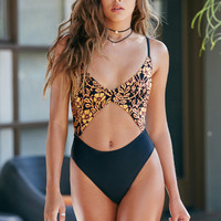 MinkPink Persian Goddess Cutout One Piece Swimsuit at PacSun.com