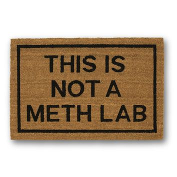 This is Not a Meth Lab Coir Doormat